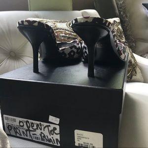 Gucci Shoes - Gucci Embellished Horse bit Satin Heels